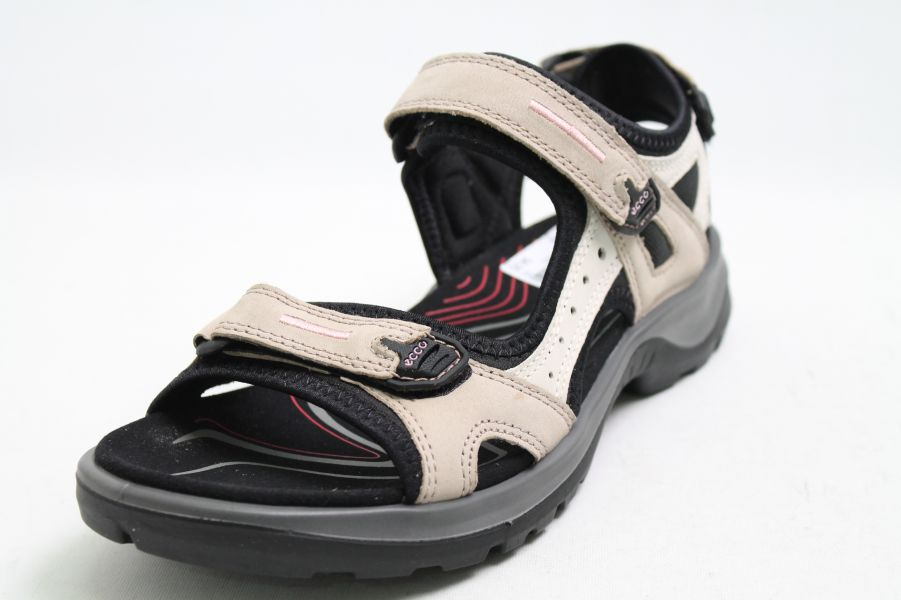 Details about Ecco Sandals Grey Nubuck Leather Velcro Receptor Womens show original title